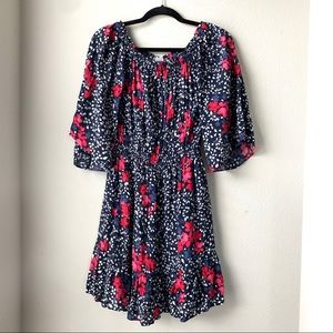Gap Floral Off the Shoulder Dress